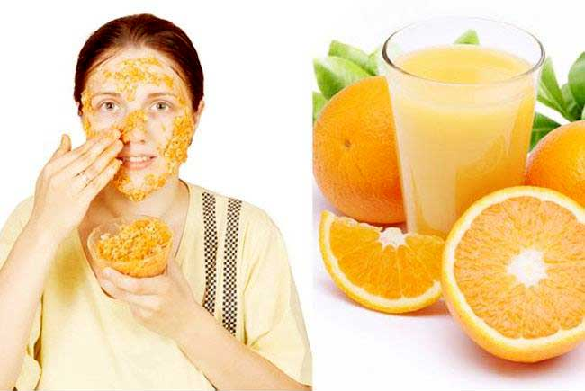 Use of oranges for Skin care using Natural Fruits