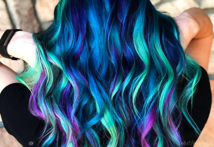 Mermaid Hottest Ombre Hair Color Style Trends