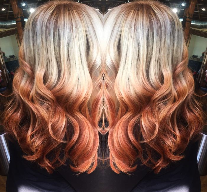 Reverse Ombre color Style