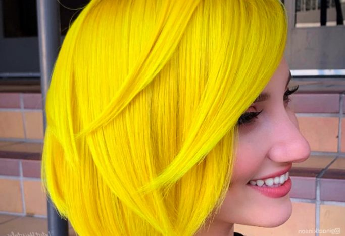 Yellow Ombre Color Style
