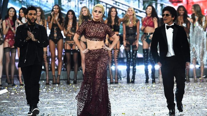 Lady Gaga Performing Victoria Secret Fashion Show
