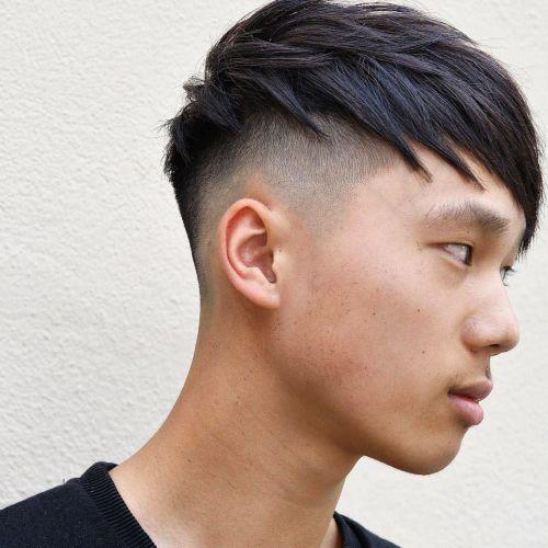 Angled Fringe European hairstyle