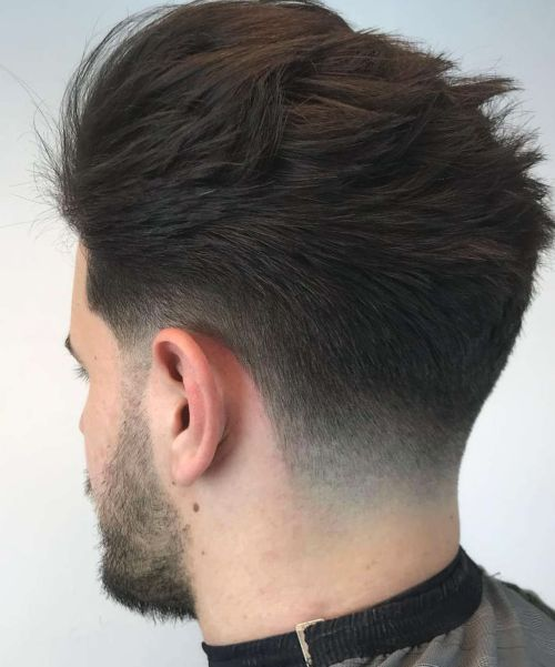 Medium Length Hair and Neck Taper - Natural hairstyles for men