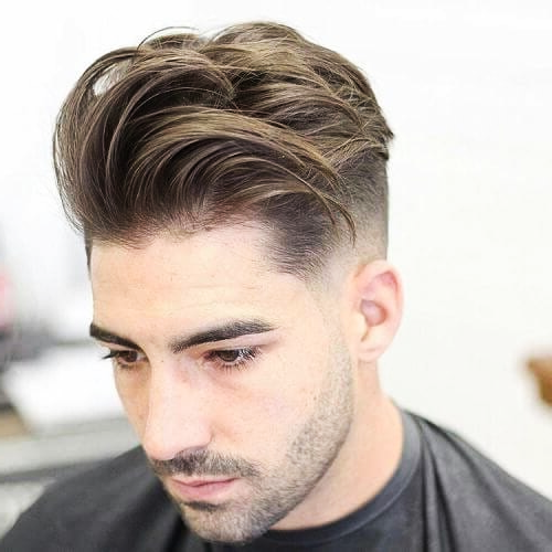 Natural Pomp and Fade hair style