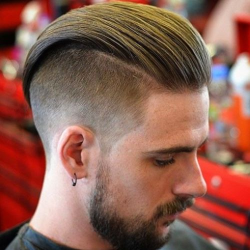Slick Back with Undercut European hair