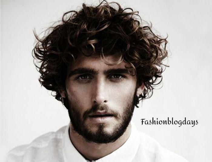 Wavy Curls Men hair